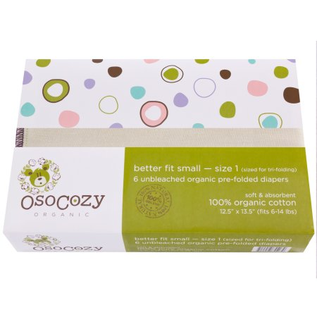 OsoCozy Organic Cotton Refolds Better Fit Size 1