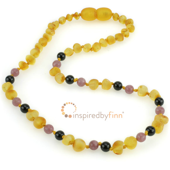 Inspired By Finn Baltic Amber, Harvest ADHD Adult Necklace 19-20