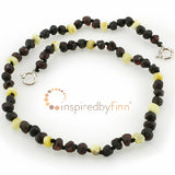 "Child/Adult Adjustable Amber Bracelet/Anklet 11"" Dark With Light- Inspired By Finn"
