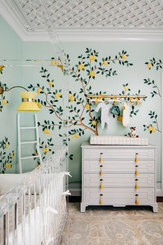 lemons themed nursery design