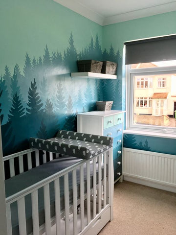 forest nursery wall design