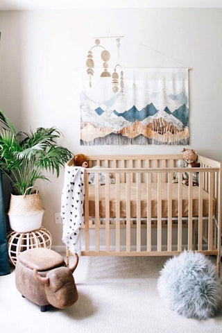 gender neutral nursery boho design