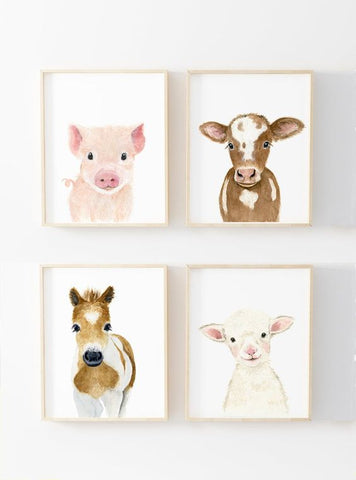 animals pictures baby room wall decor