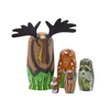 Matryoshka wooden animals family