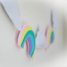 Load image into Gallery viewer, Rainbows and Clouds Garland - Designooks- Decorating made easy