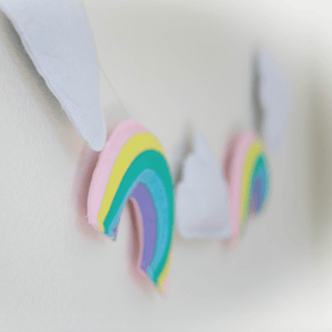 Rainbows and Clouds Garland - Designooks- Decorating made easy