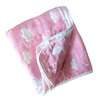 pink and white Clouds baby blanket