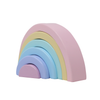 Rainbow Wood Blocks set of 6 Pieces