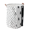 black and white trees print baby knit blanket