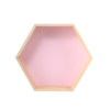 Pink Hexagon shaped shelf