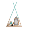 Triangle Teal shelf baby room decor