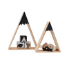 2 wooden Snow Mountain Hanging nordic shelves in two sizes for kids room decor