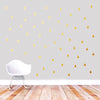 gold raindrops wall decals