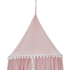 pink canopy with pompoms