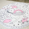 unicorns and rainbows play mat for baby room