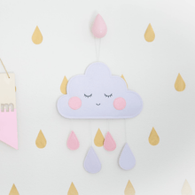 Load image into Gallery viewer, Felt Cloud Wall Decor - Designooks- Decorating made easy