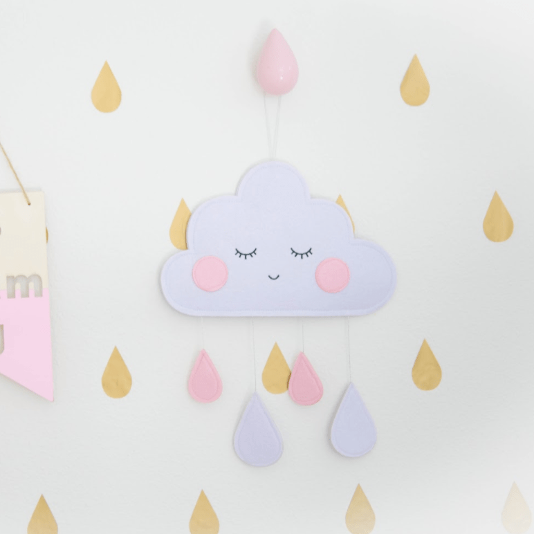 Pink Raindrop Hook- Small - Designooks- Decorating made easy
