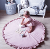 blush color play mat baby room decor