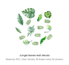 green leaves wall decals