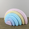 Rainbow Wood Blocks set of 6 Pieces decor for kids room