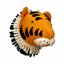 Load image into Gallery viewer, Tiger Felt head wall decor - Designooks- Decorating made easy