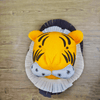 Tiger Felt head wall decor - Designooks- Decorating made easy