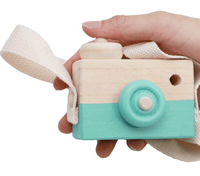 Wooden Camera Toy- light green - Designooks- Decorating made easy