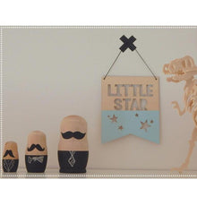 Load image into Gallery viewer, Little Star Wood Sign- Light Blue - Designooks- Decorating made easy
