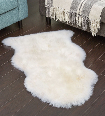 Australian Sheepskin Lambskin Long Wool Rug White / Ivory Multiple Sizes