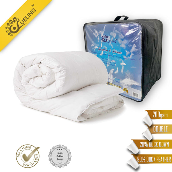 WHITE DUCK DOWN FEATHER QUILT DUVET DOONA ALL SEASON