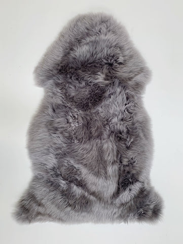 Silver Grey Merino Sheepskin Rug Soft Natural