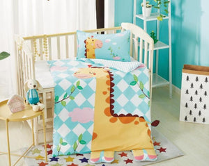 Cot Bed Machine Washable Wool Quilt Baby Cartoon Bedding Sets