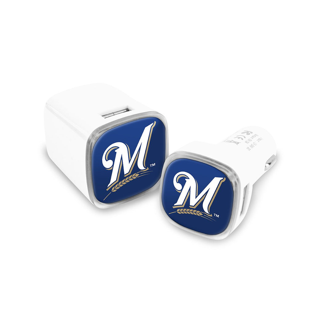 Milwaukee Brewers Car and Wall Chargers