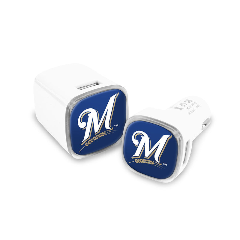 Milwaukee Brewers Car and Wall Chargers - Prime Brands Group