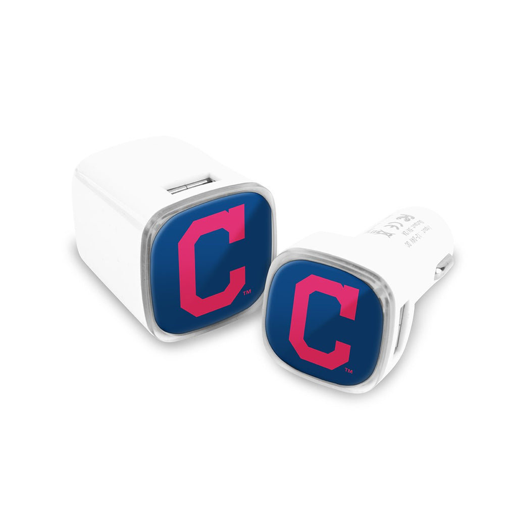 Cleveland Indians Car and Wall Chargers