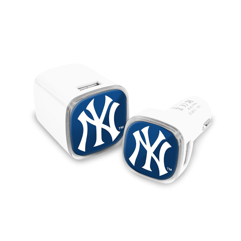 New York Yankees Car and Wall Chargers - Prime Brands Group