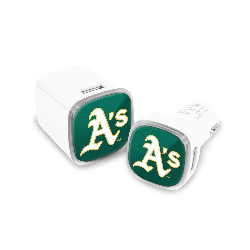 Oakland Athletics Car and Wall Chargers - Prime Brands Group