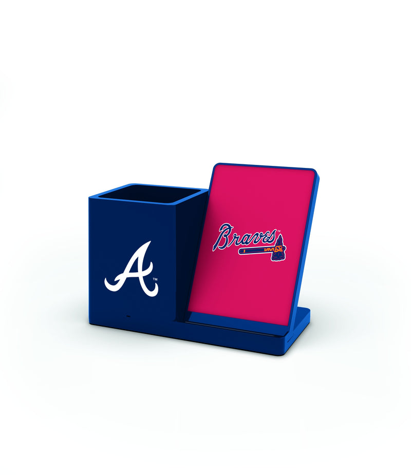 Atlanta Braves Wireless Charging Pen Holder - Prime Brands Group