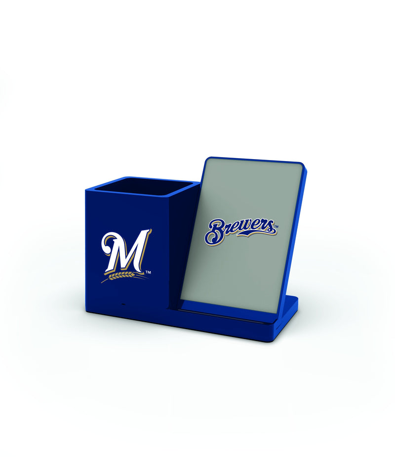 Milwaukee Brewers Wireless Charging Pen Holder - Prime Brands Group