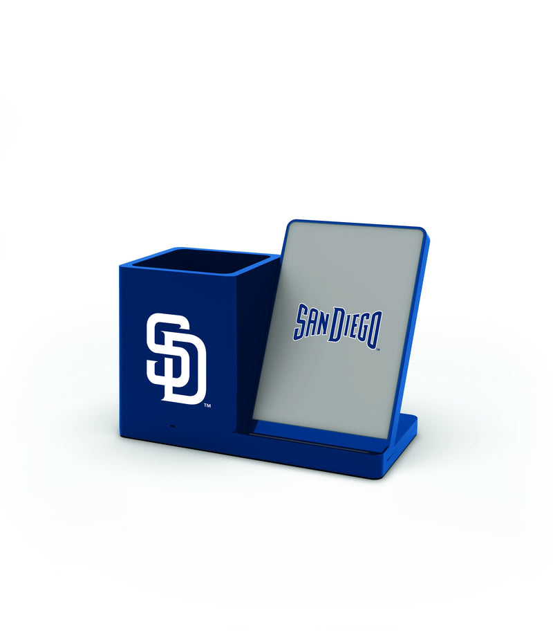 San Diego Padres Wireless Charging Pen Holder - Prime Brands Group