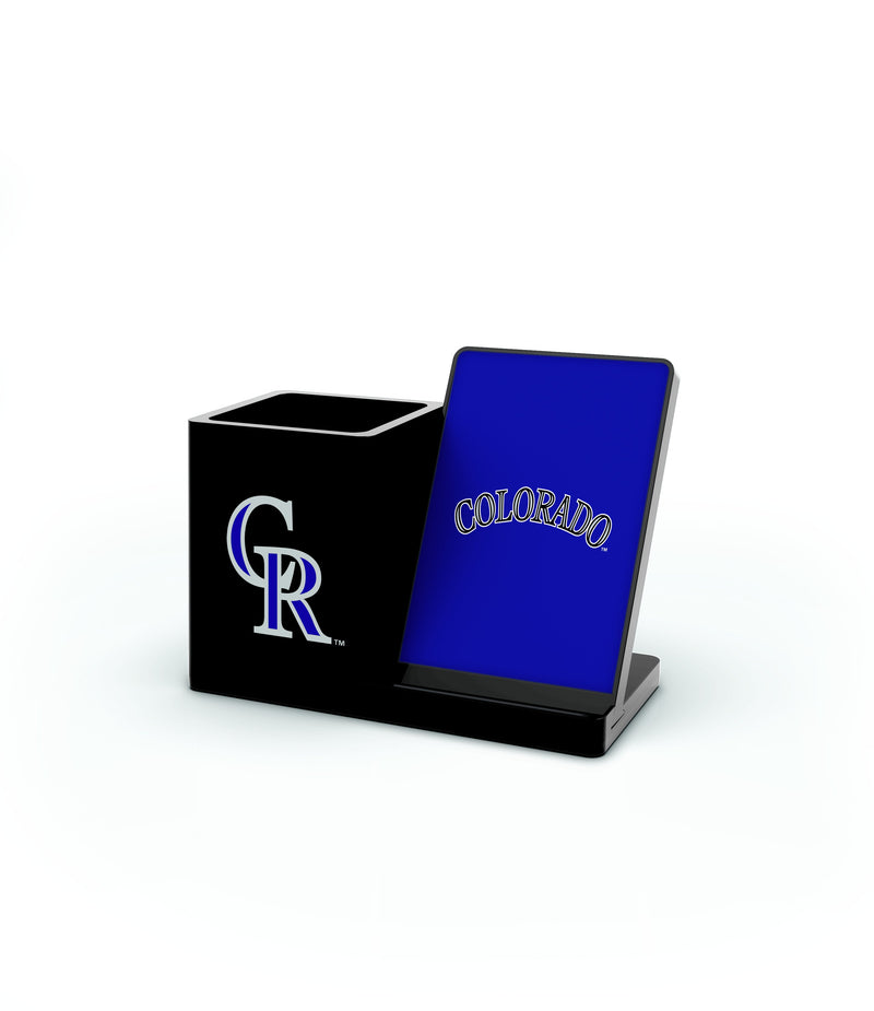 Colorado Rockies Wireless Charging Pen Holder - Prime Brands Group