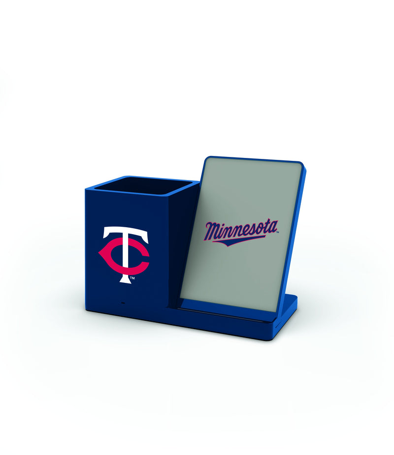Minnesota Twins Wireless Charging Pen Holder - Prime Brands Group