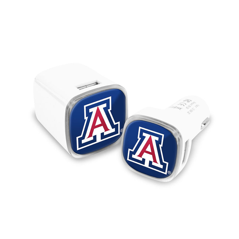 Arizona Wildcats Car & Wall Charger 2 Pack - Prime Brands Group