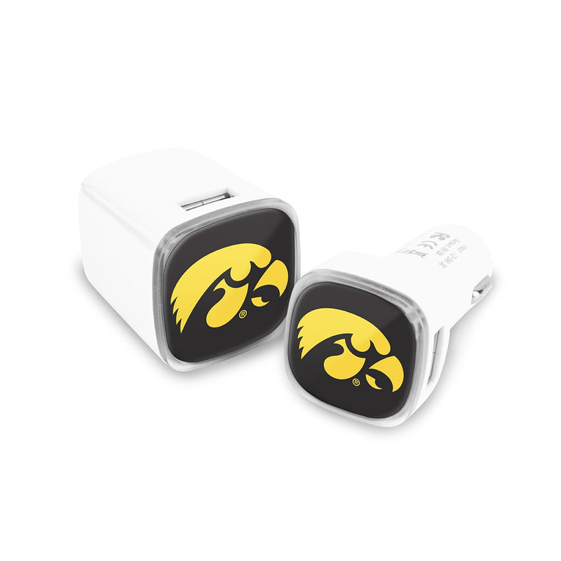 Iowa Hawkeyes Car and Wall Chargers - Prime Brands Group