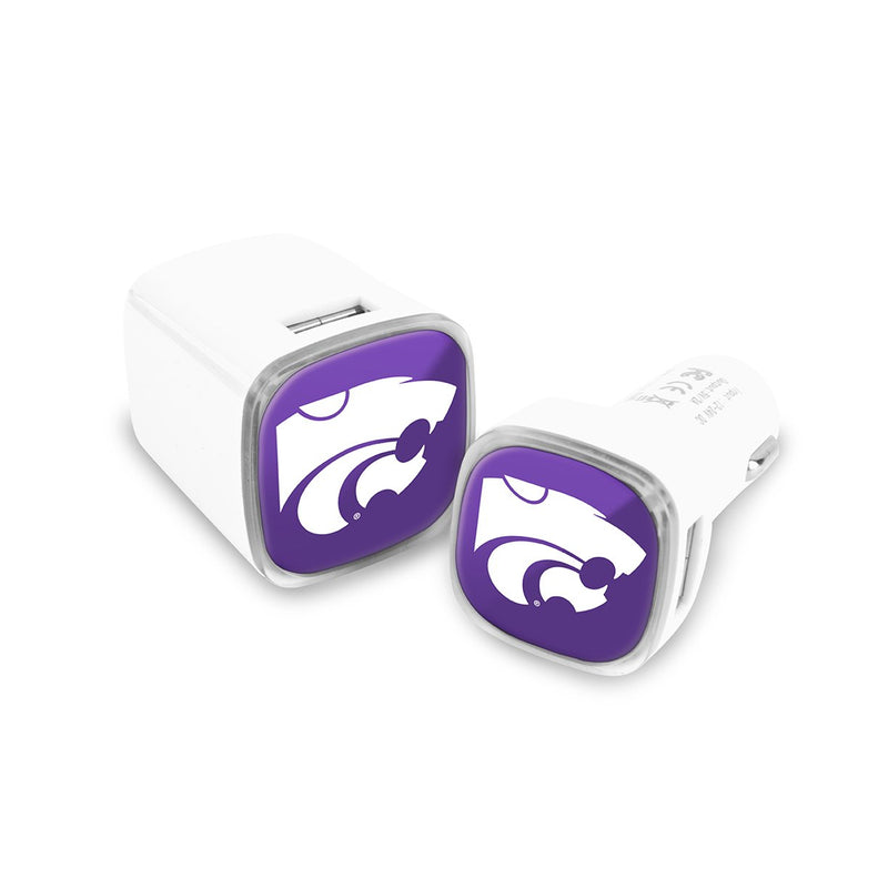 Kansas State Wildcats Car & Wall Charger 2 Pack - Prime Brands Group
