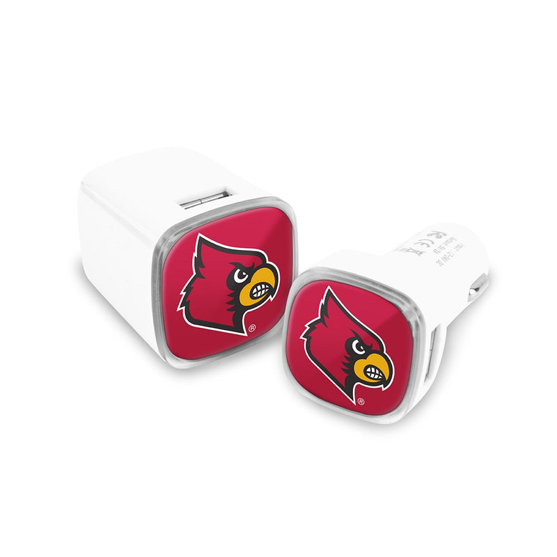 Louisville Cardinals Car & Wall Charger 2 Pack - Prime Brands Group