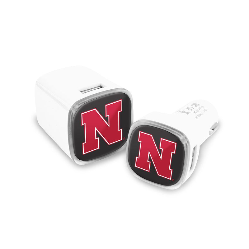 Nebraska Cornhuskers Car and Wall Chargers