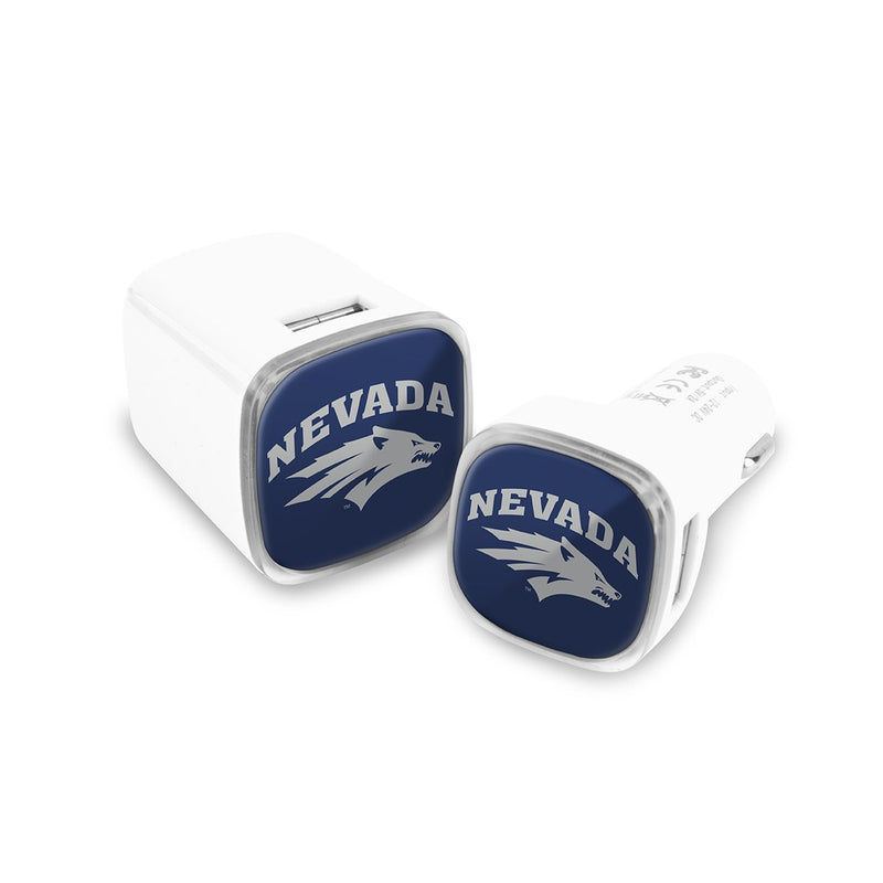 Nevada Wolf Pack Car and Wall Chargers