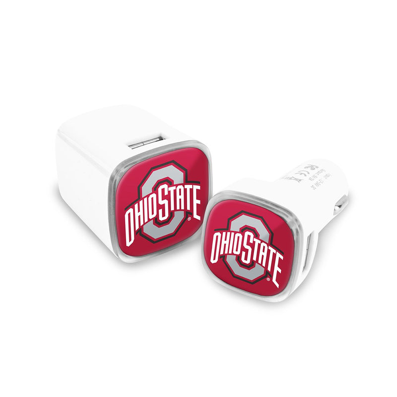 Ohio State Buckeyes Car & Wall Charger 2 Pack - Prime Brands Group