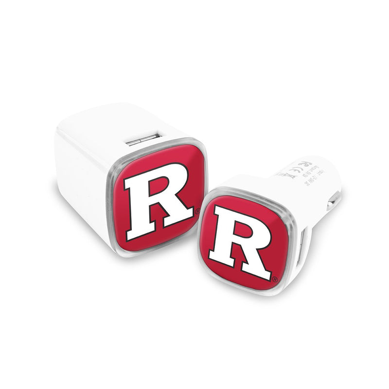 Rutgers Scarlet Knights Car and Wall Chargers - Prime Brands Group